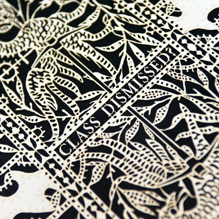 A picture of laser cut lace