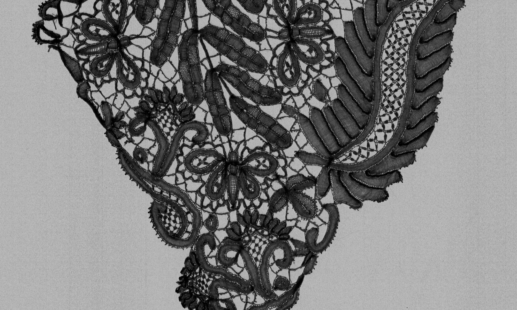lace design with sprigs and brides