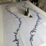 a lace design